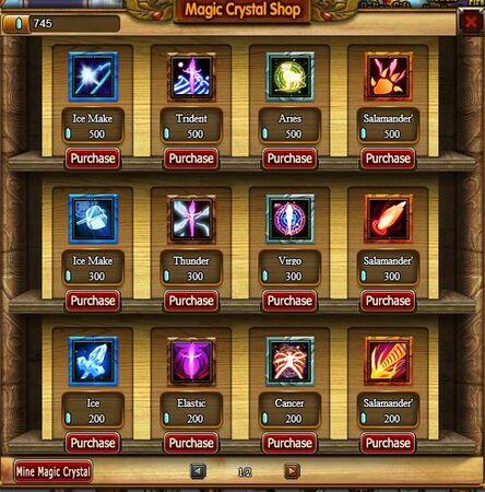Magic crystal shop