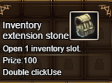 Inventory extension stone
