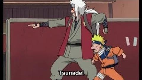 Tsunade Defeated Naruto Only One Finger , Naruto Uses Rasengan For the first Time