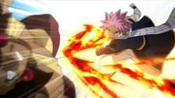 Natsu golpea a Ajeel