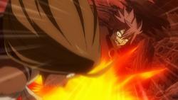 Natsu golpea a Tempester