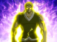 Enraged Laxus attacks the thugs