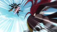 Erza's twin-bladed attack