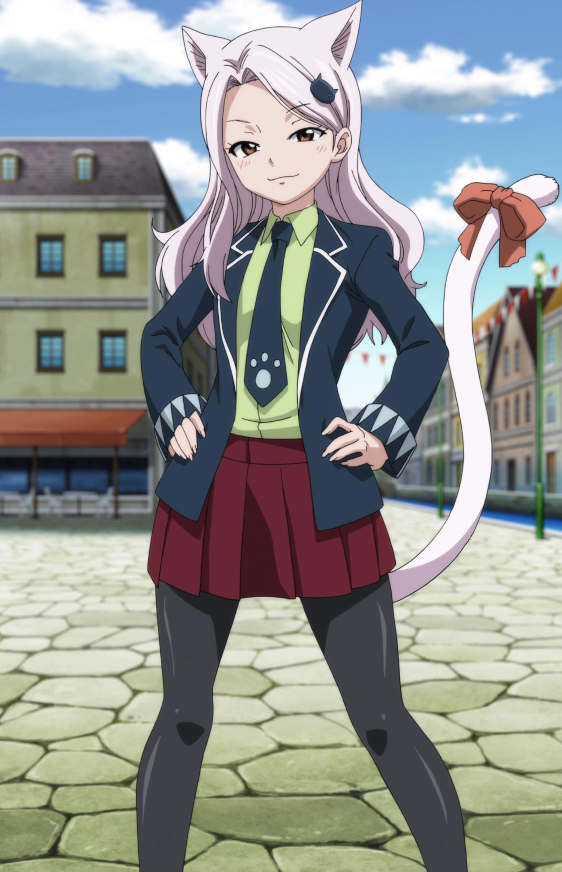 В каких аниме есть девушки с хвостом