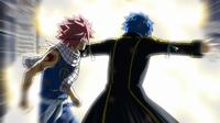Jellal protects Natsu