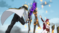 Jerome strikes Erza's blade