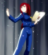 Erza in the sweatsuit