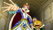 Natsu se proclama rey