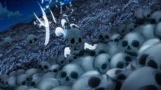Gajeel atacado por Over Skeleter