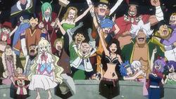 Fairy Tail celebra su victoria anime