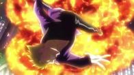 Laxus uderzony eksplozją ognistego smoka