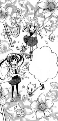 Yoshino utiliza su magia para disculparse con Wendy y Charle