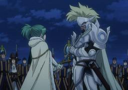 Arcadios habla con hisui