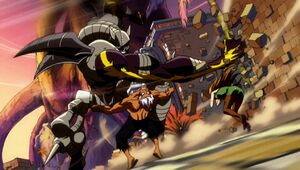 Elfman and Evergreen battling Rustyrose