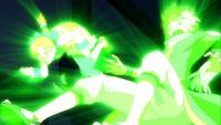 Guttman using Rapture Magic on Natsu and Coco