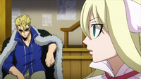 Laxus disagrees with Mavis