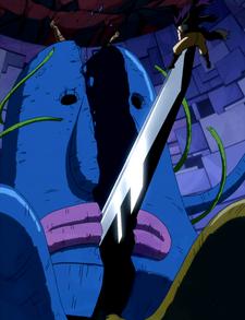 Gajeel y Shadow Gear vs Guardián