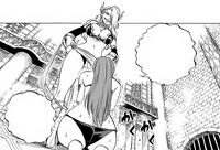 Kyria cuts Erza's strength