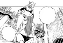 Kyria cuts Erza's strength