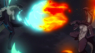 Igneel and Acnologia continue their fight