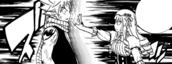 La Maga Blanca ataca a Natsu