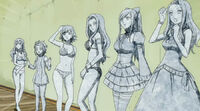 Mirajane, Erza, Cana, Juvia, Levy, and Bisca turned to stone
