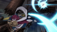 Erza deals the final blow on Ajeel