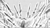 Erza summons her blades