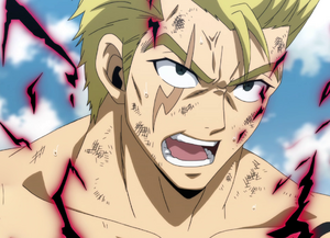 Laxus after defeating Wall