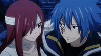 Jellal and Erza happy that they survived
