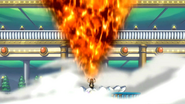 Natsu screams out fire