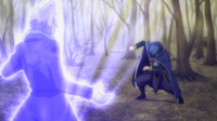 Blind Jellal tries to battle to Rustyrose