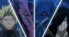 Los dragones gemelos contra los dragones