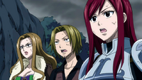 Erza's team see the defeated mage