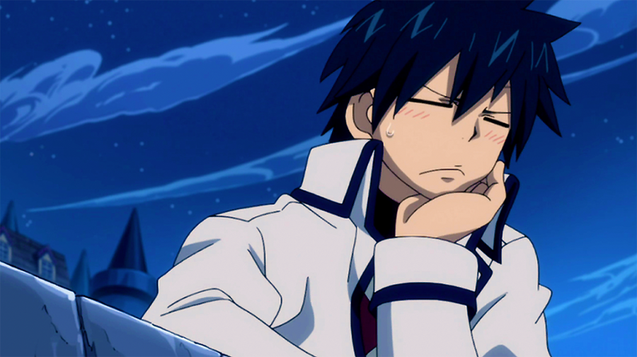 Gray Blush When Erza Mention Juvia