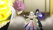 Mavis stops Natsu's attack