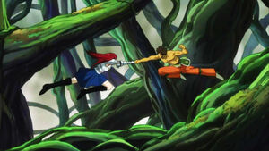 Erza clashes with Azuma