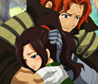 Gildarts hugs Cana Close Up