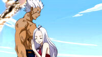 Mirajane after being saved by Elfman