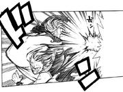 Natsu erwischt Eligor mit einem Dash