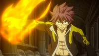 Natsu stops Franmalth's attacks