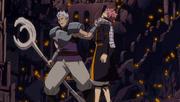 Natsu casi vencido por Byro