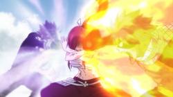 Erza detiene el confrlicto entre Natsu y Gray