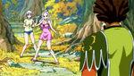 Mirajane and Lisanna encounter Azuma