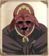 Mugshot of Masked Man