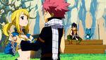 Natsu and Lucy dance