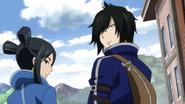 Natsu stops Rogue and Minerva