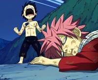 Young Gray defeats a young Natsu