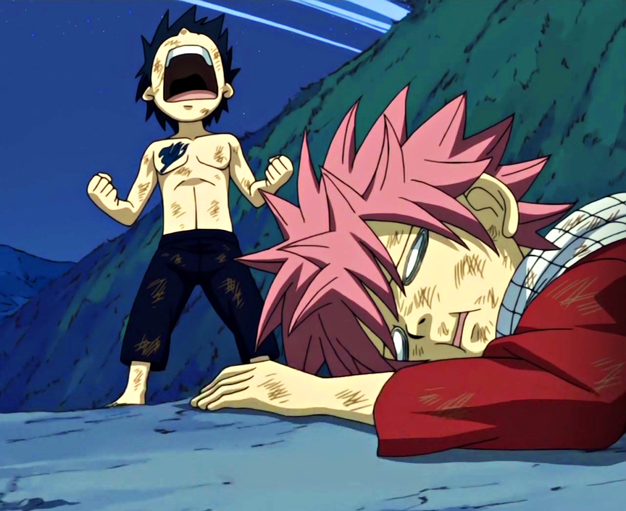 Image - Young Gray defeats a young Natsu.jpg | Fairy Tail Wiki | FANDOM powered by Wikia