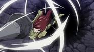 Erza penetrates through Cube